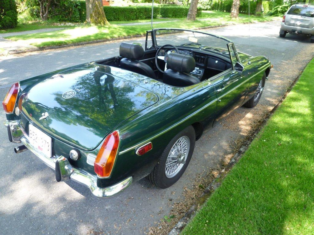 1972 MG MGB Back